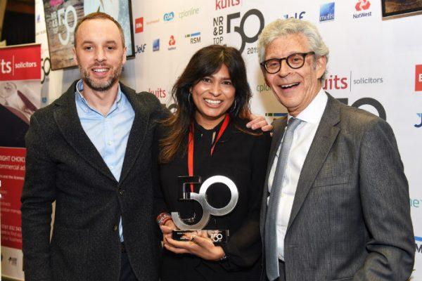 Picture of Nisha Katona, Founder of Mowgli winning a special award